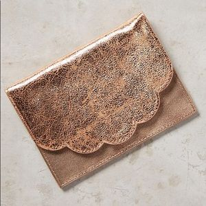 Anthropologie Bags - Copper Scallop Wallet